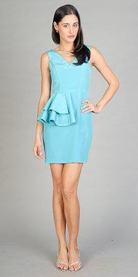 Blue Ruffle Dresses by YU
