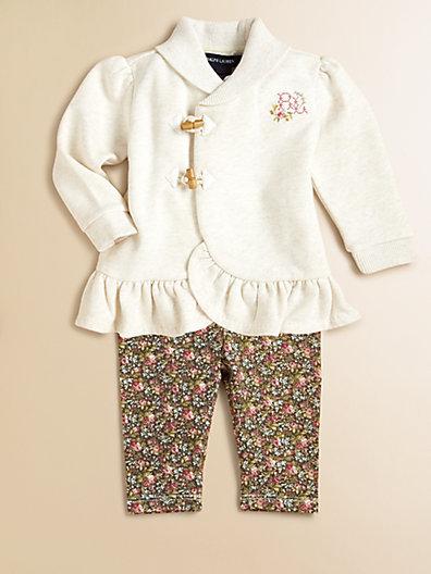 Ralph Lauren Layette's Fleece Tunic & Leggings Set