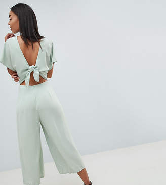 Missguided Tall Open Back Chiffon Jumpsuit