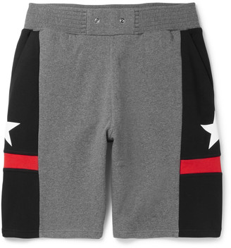 Givenchy Panelled Cotton-Jersey Shorts $745 thestylecure.com