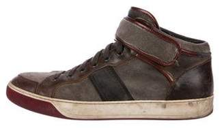 Lanvin Suede High-Top Sneakers