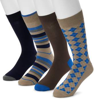 Croft & Barrow Men's 4-pack Opticool Rayon From Bamboo Crew Socks