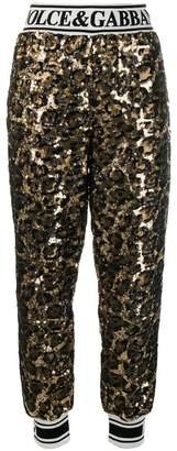 Dolce & Gabbana sequined track trousers