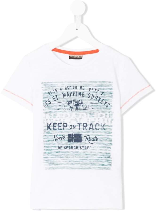 Napapjiri Kids keep on track T-shirt