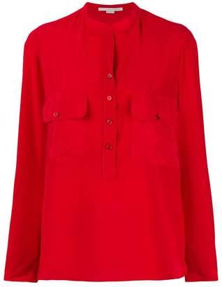 Stella McCartney Estelle half button blouse