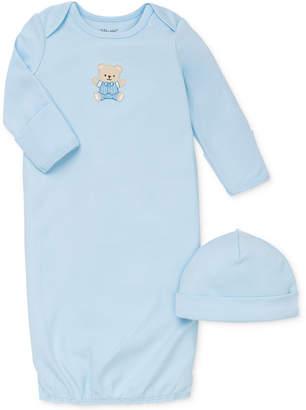 Little Me Baby Boys Cute Bear Hat & Gown Set