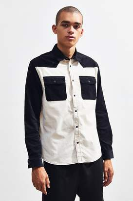 Urban Outfitters Long Sleeve Colorblocked Corduroy Dress Shirt