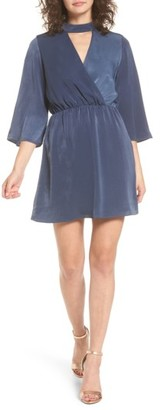 Women's Everly Choker Neck Wrap Dress $49 thestylecure.com