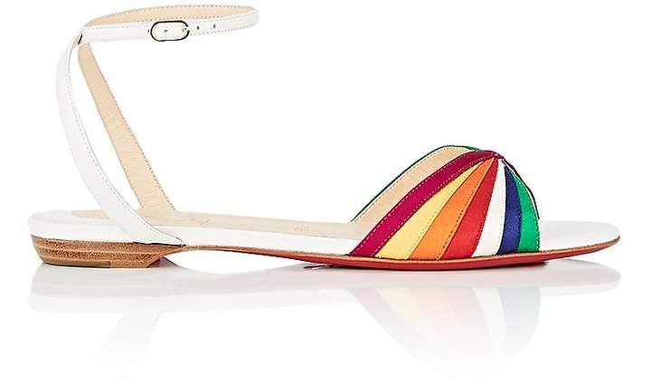 Christian Louboutin Women's Naseeba Flat Satin & Leather Sandals