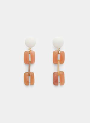 Marni Resin Clip Earrings in Pink