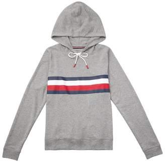 Tommy Hilfiger Global Stripe Pullover Hoodie - Grey, L