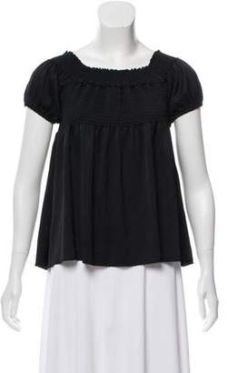 Chanel Ruched Off-The-Shoulder Top