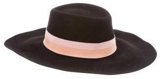 Maison Michel Felt Wide-Brim Hat