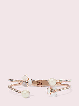Kate Spade Disco pansy double cuff