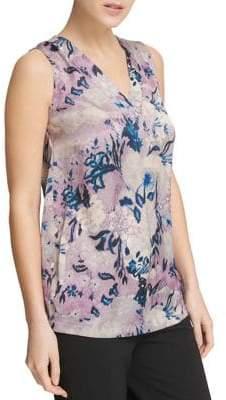 Donna Karan Floral Sleeveless Top