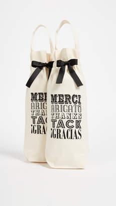 Bag-all Set of 2 Merci! Wine Bags