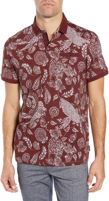 Ted Baker Slim Fit Exotic Botanical Print Polo