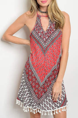 Adore Clothes & More Red/gray Summer Dress