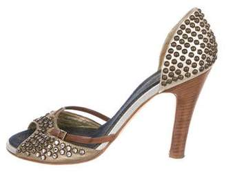 Giuseppe Zanotti Studded Leather Pumps