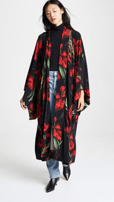 Norma Kamali Mid Calf Robe