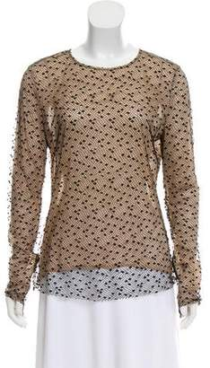 Andrew Gn Mesh Long Sleeve Top