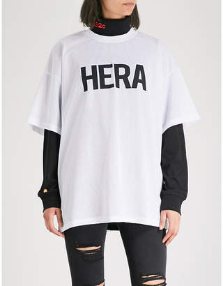 Hera Logo-print mesh T-shirt