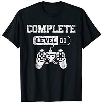 Level 1 Complete T-Shirt Video Gamer 1st Birthday Gift