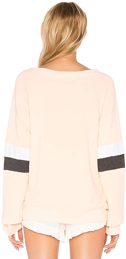 Wildfox Couture Nana's Wallpaper Pullover in Peach 5