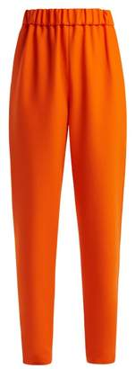 Maison Rabih Kayrouz Wool Twill Mid Rise Trousers - Womens - Orange