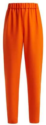Maison Rabih Kayrouz - Wool Twill Mid Rise Trousers - Womens - Orange