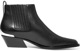 Rag & Bone Westin Metal-trimmed Leather Ankle Boots - Black