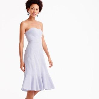 Petite strapless ruffle-hem dress in seersucker $158 thestylecure.com