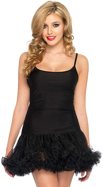 Black Petticoat Dress - Women