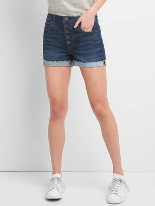"Gap Washwell High Rise 3"" Denim Shorts with Button-Fly"