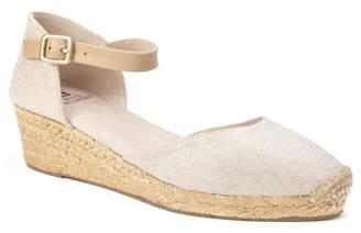 White Mountain Kate Ankle Strap Espadrille Wedge