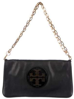 Tory Burch Logo Leather Chain-Link Shoulder Bag