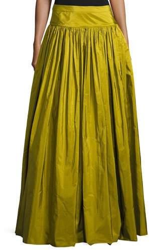 Michael Kors Ruffled Silk Ball Skirt, Green