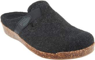 Earth Origins Felt Slip-On Clogs with Strap Detail - Jenna
