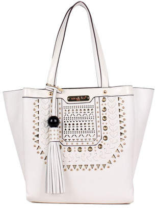 Women's Nicole Lee Anouska Braided Intricate Cut-Out Design Tote Bag