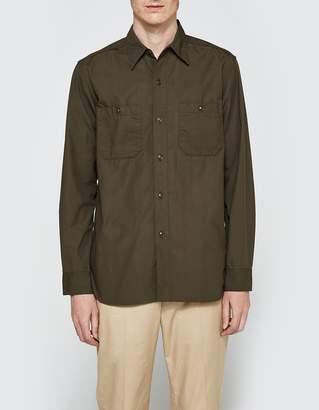 Beams Poplin USN Long Sleeve Shirt