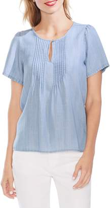 Vince Camuto Pintuck Front Short Sleeve Blouse