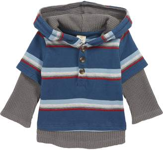 Tucker + Tate Thermal Sleeve Layered Hooded T-Shirt