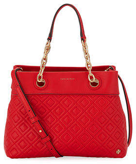 Tory Burch Fleming Small Quilted Leather Tote Bag