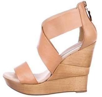 Diane von Furstenberg Crossover Wedge Sandals