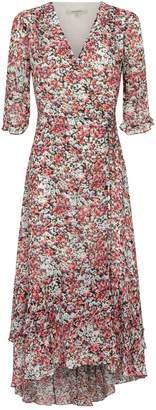 AllSaints Delana Wilde Wrap Midi Dress