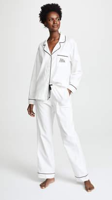 BedHead Embroidered Mrs. Classic Pajama Set