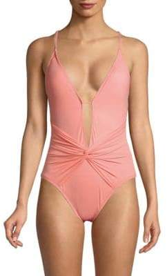 One-Piece Island Plunge Swimsuit