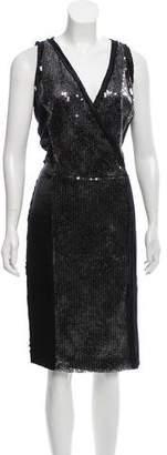 Magaschoni Silk Sequin Dress