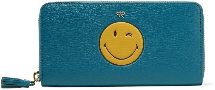 Anya HindmarchAnya Hindmarch Wink large printed textured-leather wallet