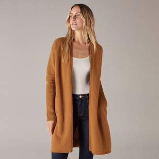 Naadam Long Cashmere Cardigan Dark Ginger